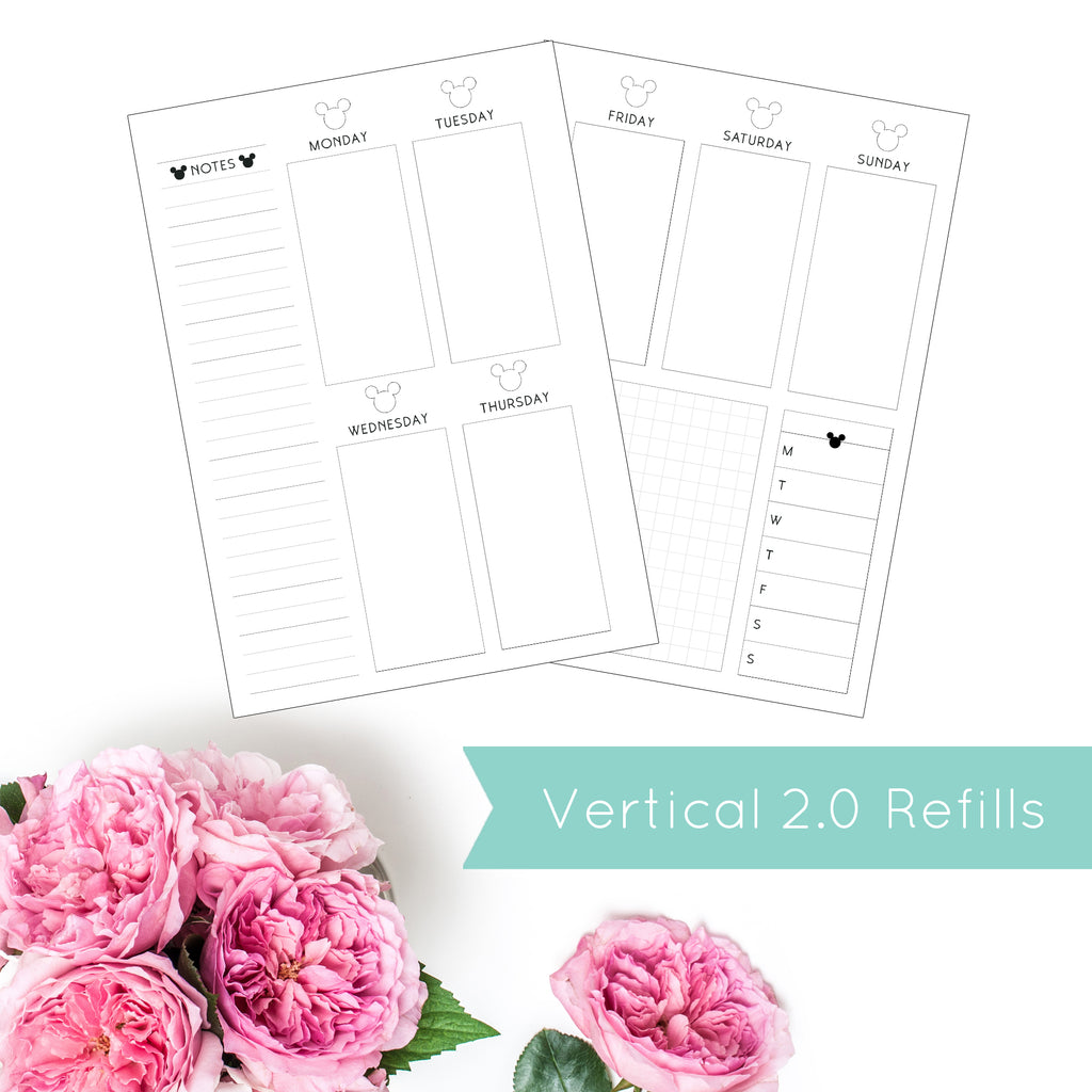 Magical Planner WEEKLY VERTICAL 2.0 PRINTED PLANNER REFILLS