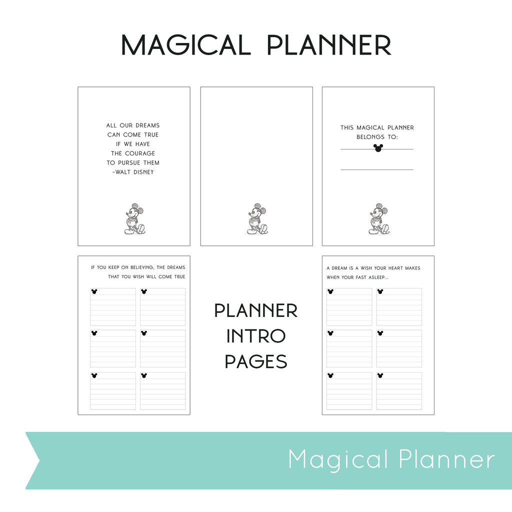 Magical Planner WEEKLY VERTICAL PRINTED PLANNER (July-December)