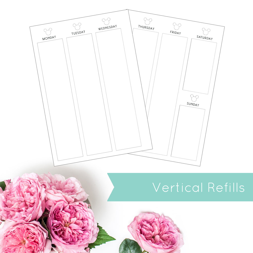 Magical Planner WEEKLY VERTICAL PRINTED PLANNER REFILLS