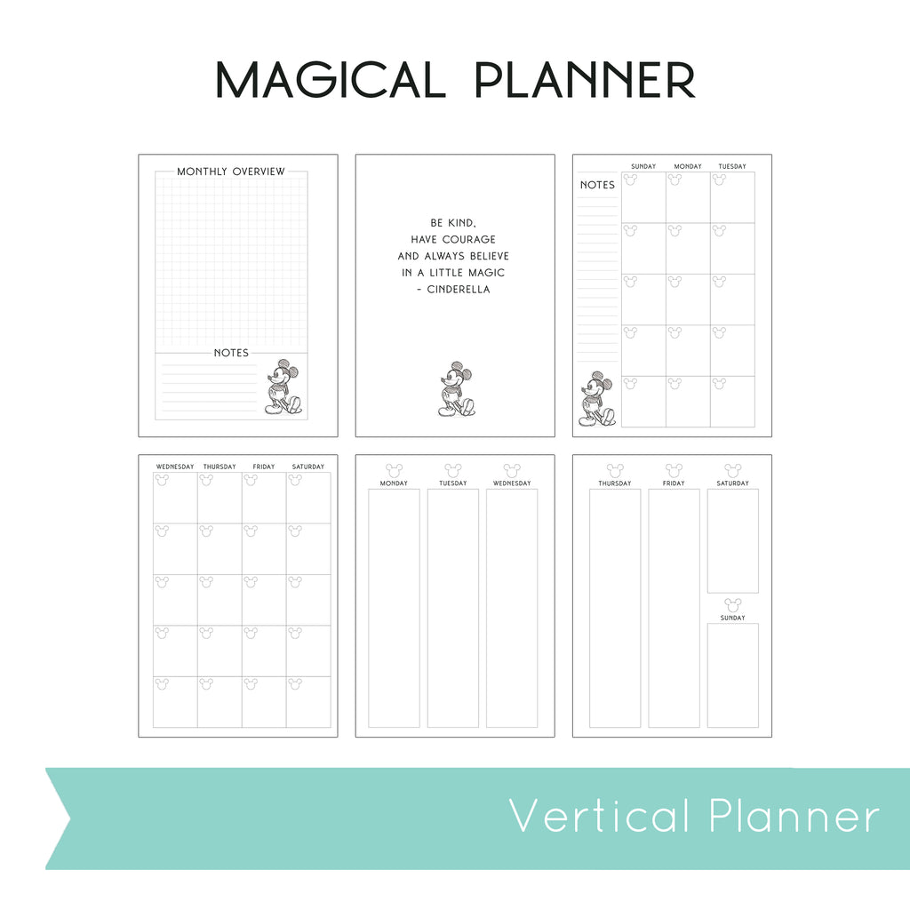 Magical Planner WEEKLY VERTICAL PRINTED PLANNER (January-June)