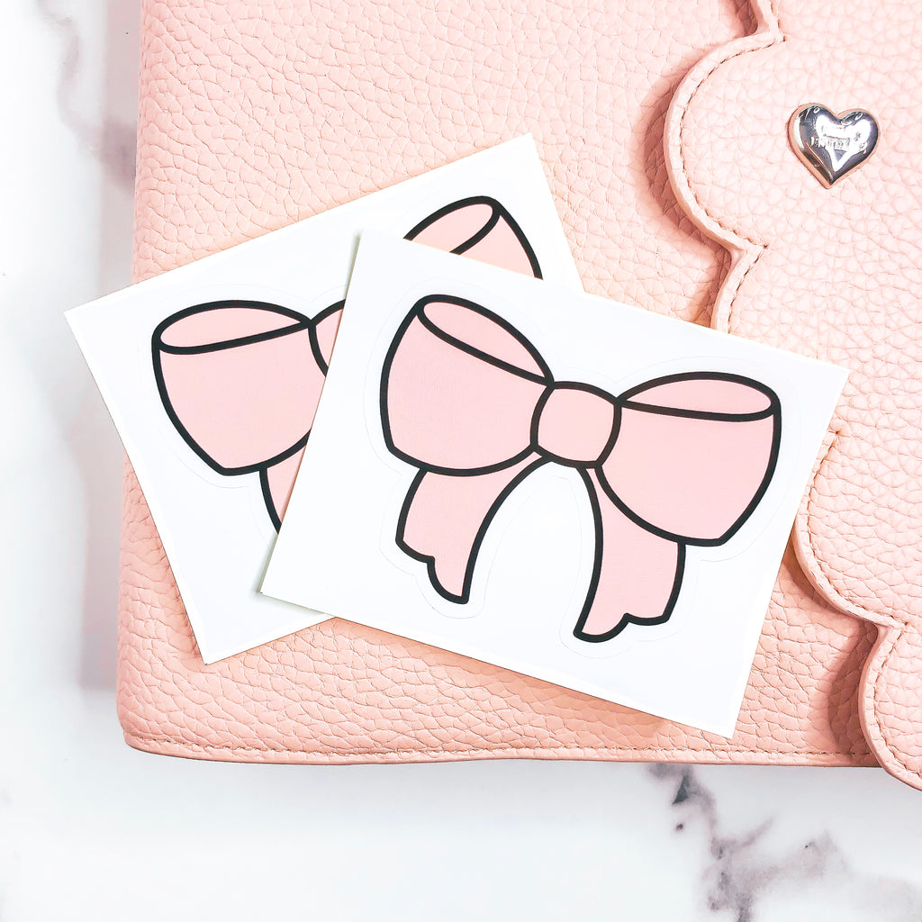 BOWTASTIC COLLECTION Scalloped Bow Vinyl Sticker