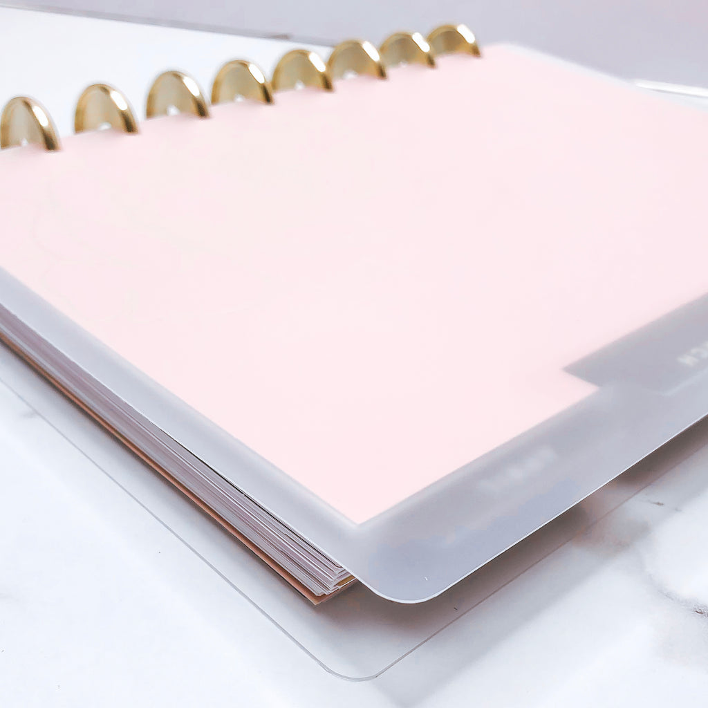 Build Your Planner FROSTED CLEAR COVERS