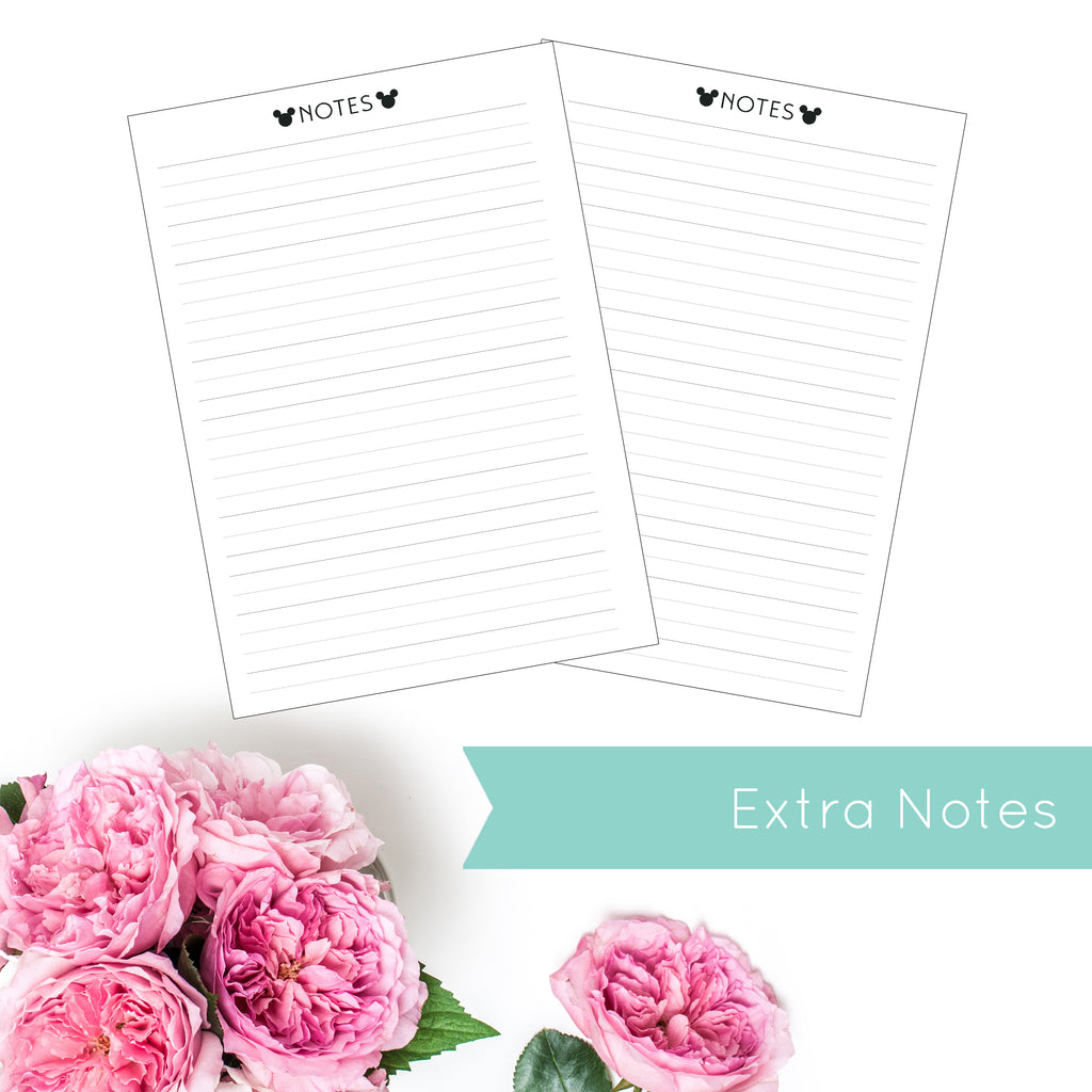 Magical Planner EXTRA NOTE PAGES PRINTED