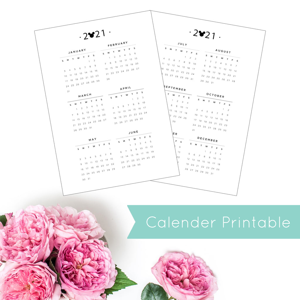 Magical Planner YEARLY CALENDER PRINTABLE INSERT