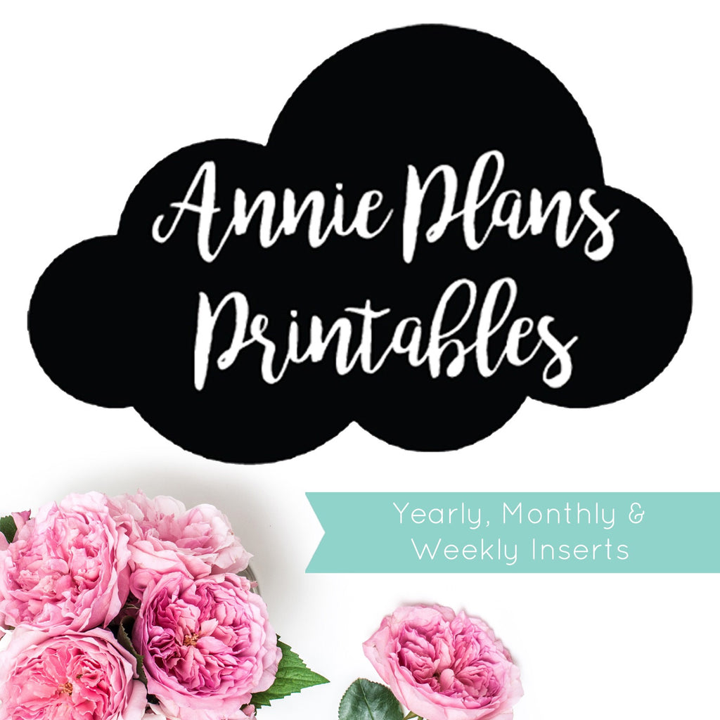 AnniePlansPrintables YEARLY, MONTHLY, WEEKLY, DAILY INSERTS