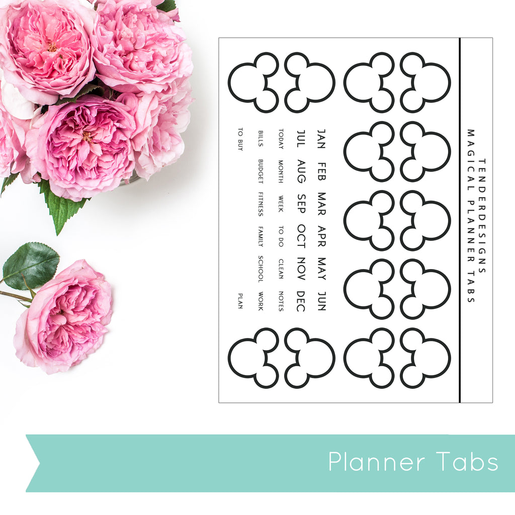 Build Your Planner MICKEY DIVIDER TABS