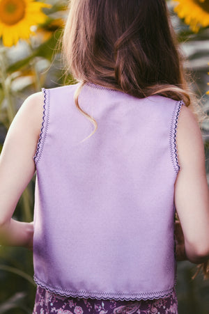 Folk Song Vest - Purple Haze