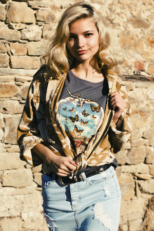 cowgirl tee | womens graphic tees | southwestern tshirt | cow skull tee | 70s tshirt | southwestern tee | retro tee | cowgirl graphic tee
