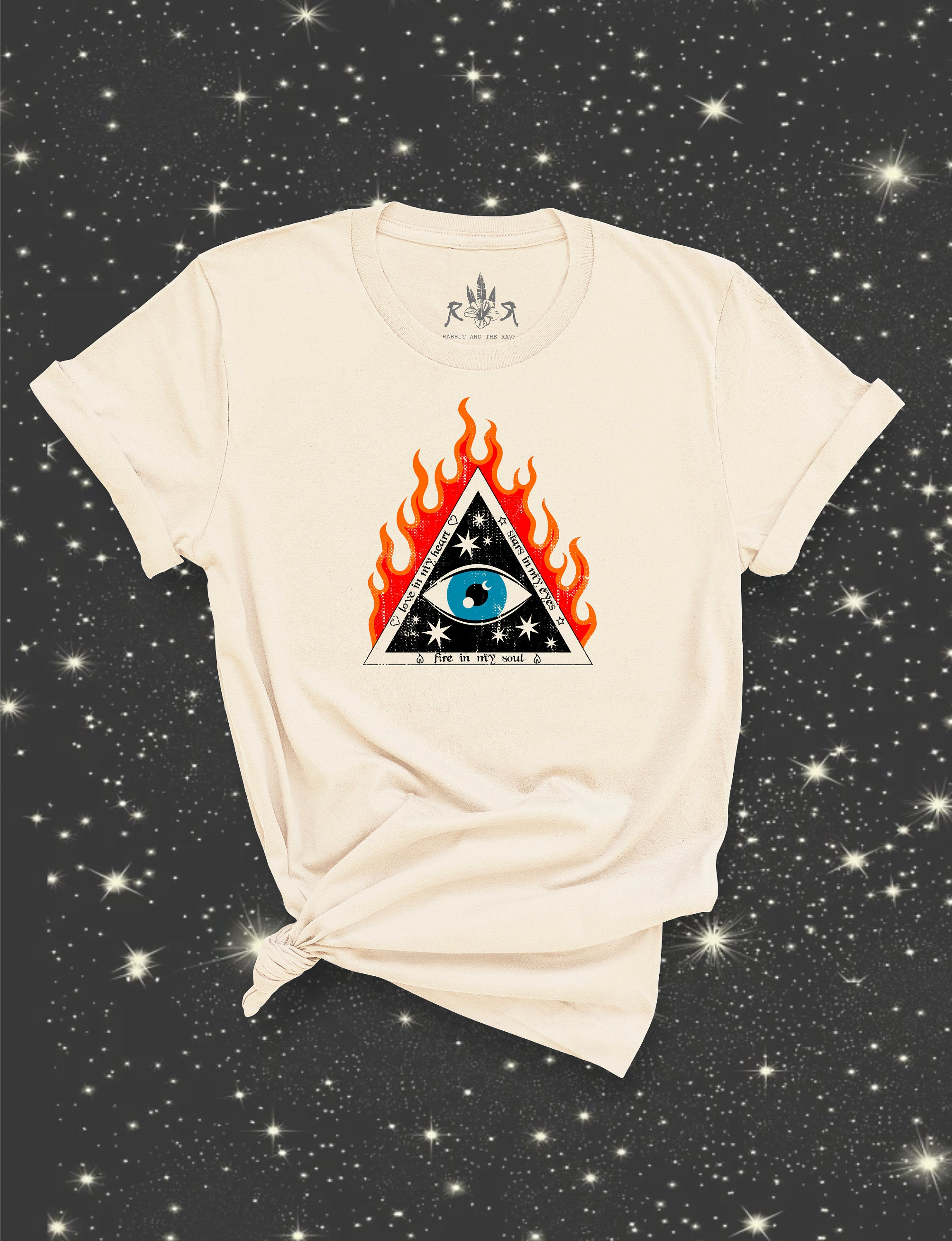 all seeing eye graphic tee women's rock n roll witchy clothing tarot illuminati evil eye tee eye of providence enlightened pyramid shirt