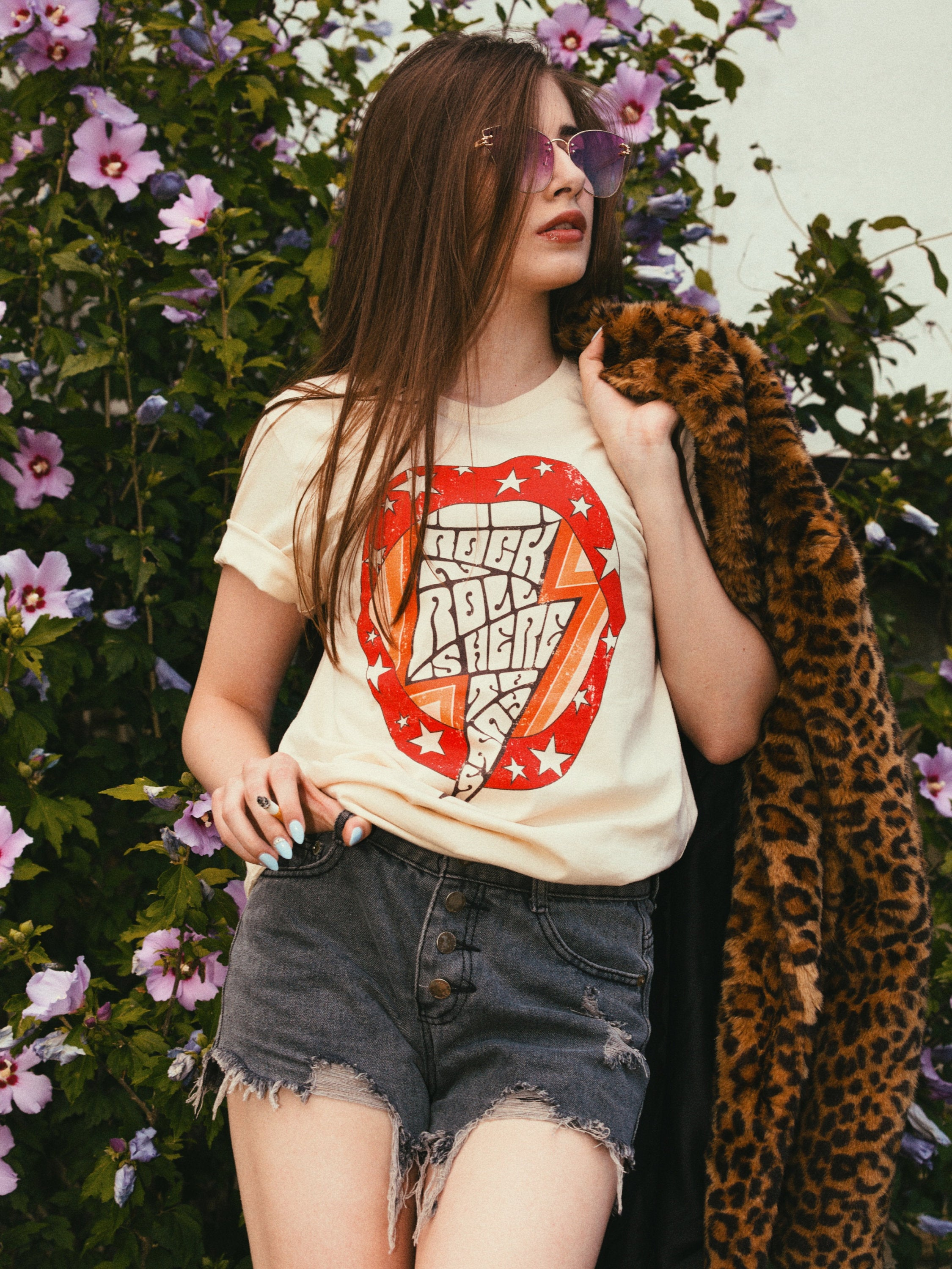 Rock'n'Roll is Here to Stay Tee - Soft Cream