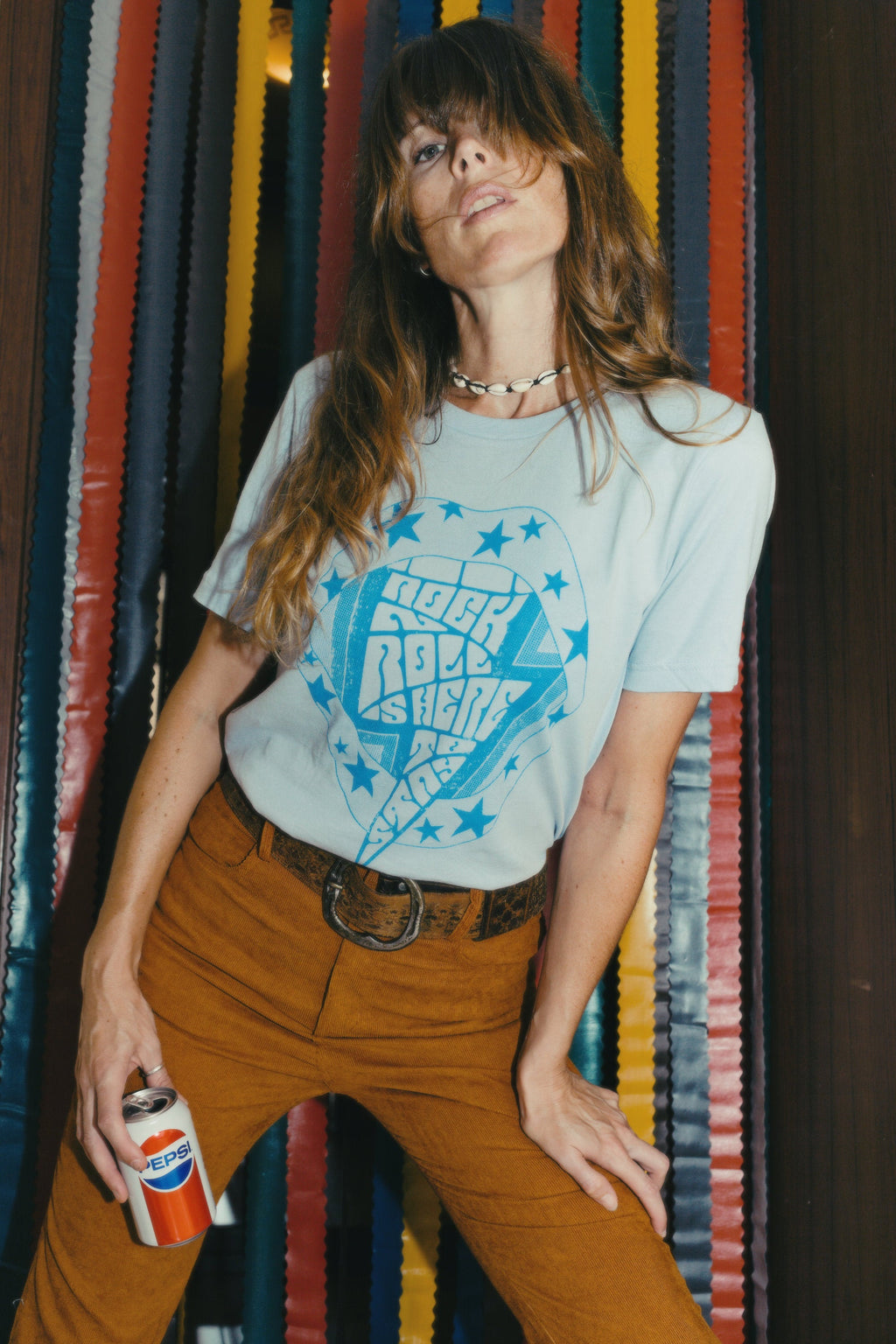 Rock'n'Roll is Here to Stay Tee - Light Blue