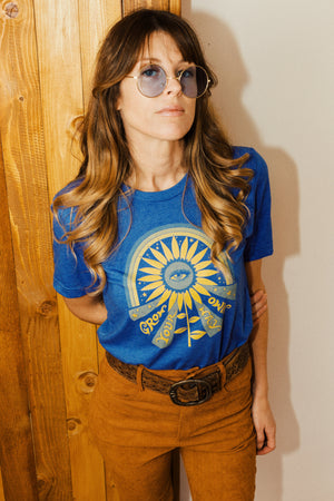 Grow Your Own Way Tee - Royal Blue Heather