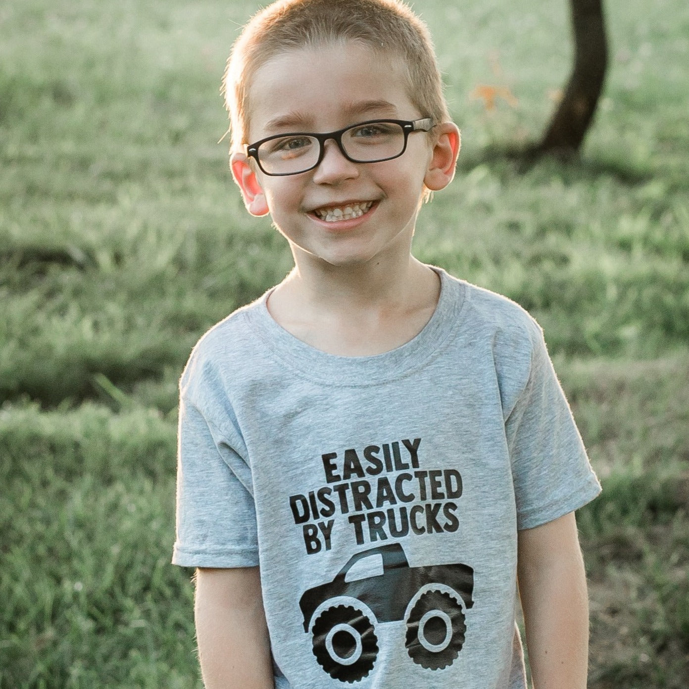 Easily Distracted By Trucks Toddler Tee
