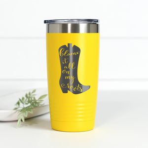 Blame It All On My Roots 20 oz Engraved Tumbler