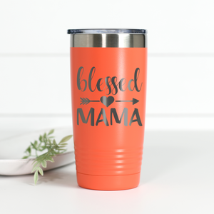 Blessed Mama 20 oz Engraved Tumbler