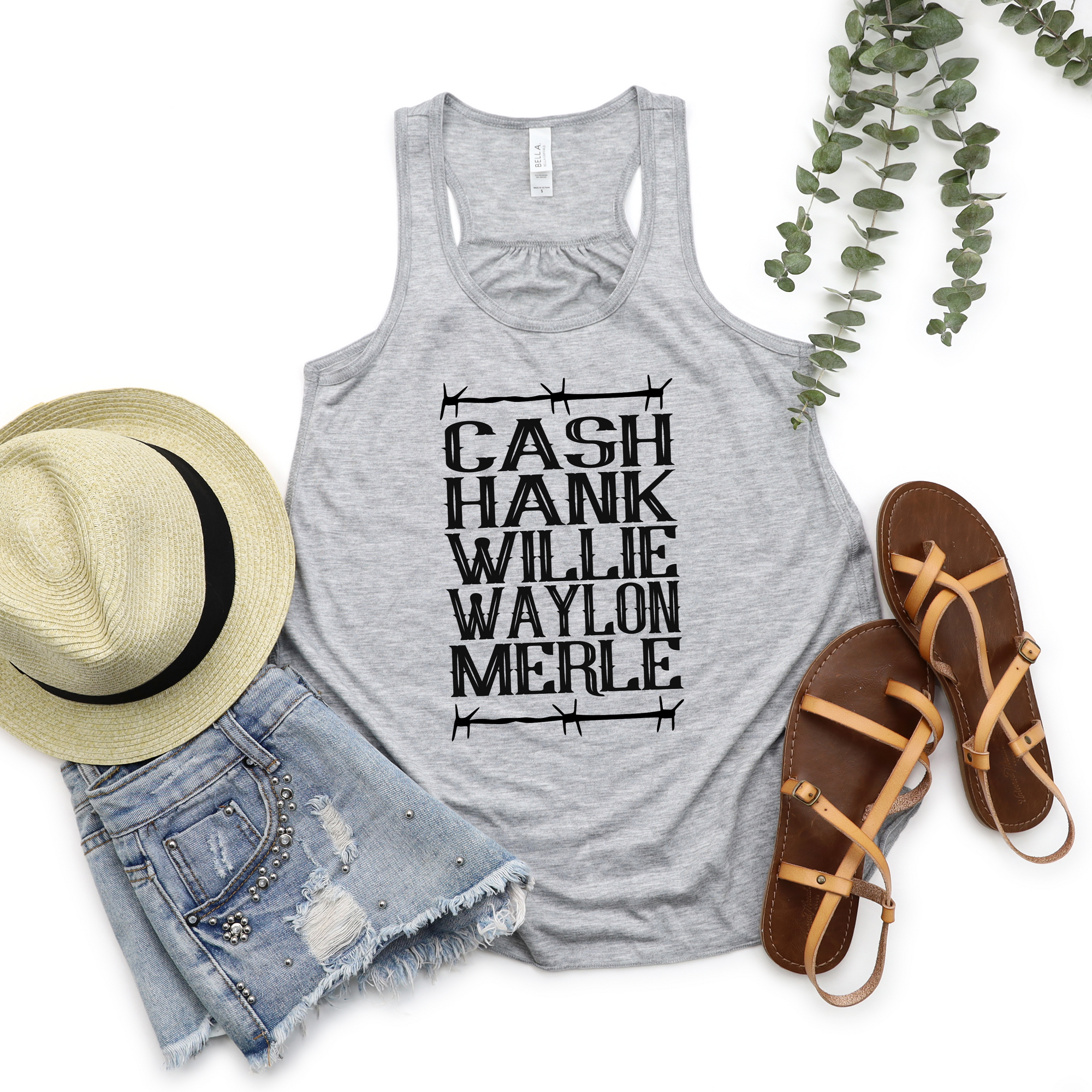 Cash Hank Willie Country Stars Tank
