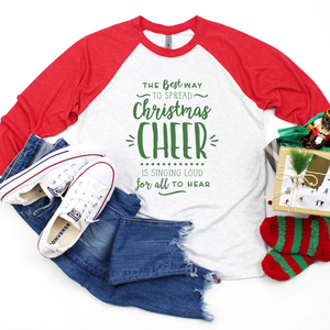 Christmas Cheer ELF Raglan Tee