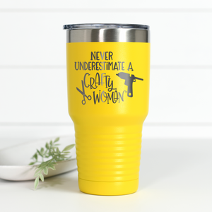 Wholesale - Never Underestimate A Crafty Woman 30 oz Engraved Tumbler