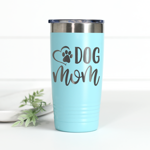 Dog Mom 20 oz Engraved Tumbler