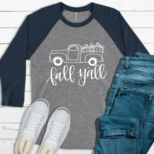 Fall Y'all Truck Raglan Tee