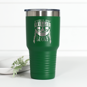 Feelin' Willie Lucky 30 oz Engraved Tumbler