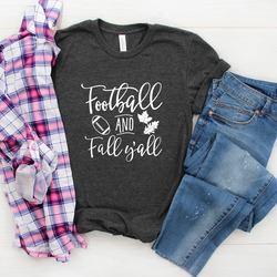 Football and Fall Y'all Tee