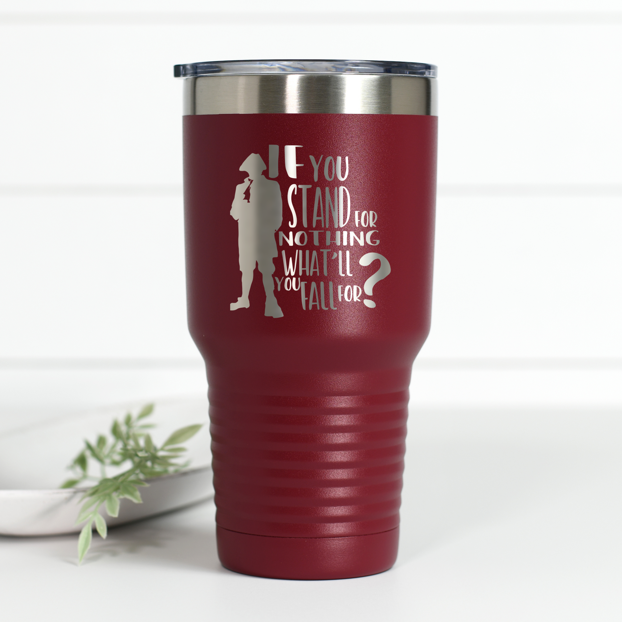Hamilton Stand for Nothing 30 oz Engraved Tumbler