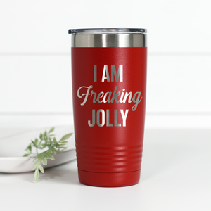 I Am Freaking Jolly 20 oz Engraved Tumbler
