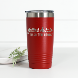 Jolliest Asshole This Side of the Nuthouse 20 oz Engraved Tumbler