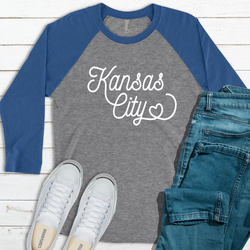 Kansas City Heart Raglan Tee