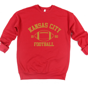 Kansas City Football Crew or Hoodie Sweatshirt