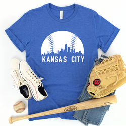 Kansas City Baseball Skyline Tee