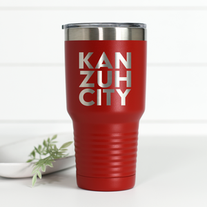 Kan Zuh City 30 oz Engraved Tumbler