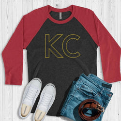 KC Gold Outline Raglan Tee