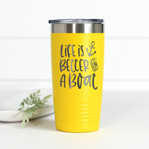 Life Is Better On A Boat 20 oz Engraved Tumbler