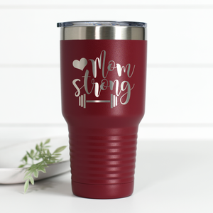 Mom Strong 30 oz Engraved Tumbler