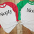 Naughty Nice Raglan Tee Set