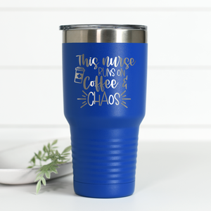 Nurse Coffee Chaos 30 oz Engraved Tumbler