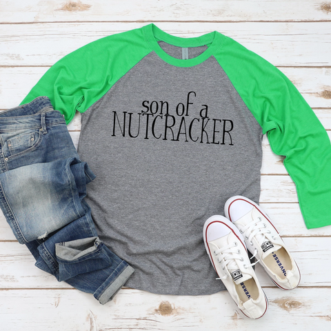 Son of a Nutcracker Raglan Tee