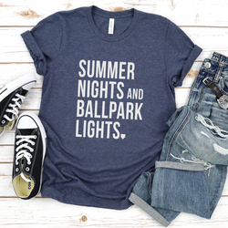 Summer Lights and Ballpark Lights Tee