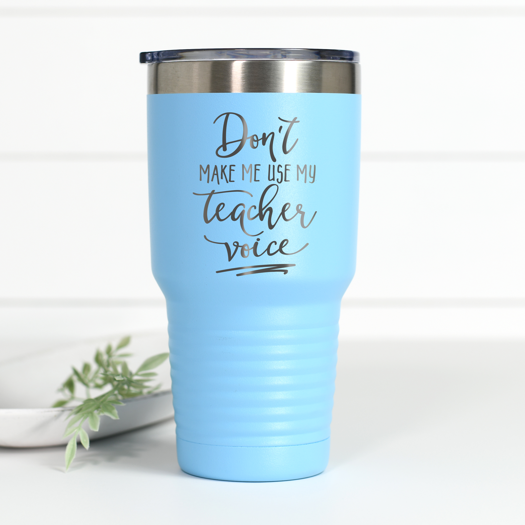 Teacher Voice 30 oz Engraved Tumbler