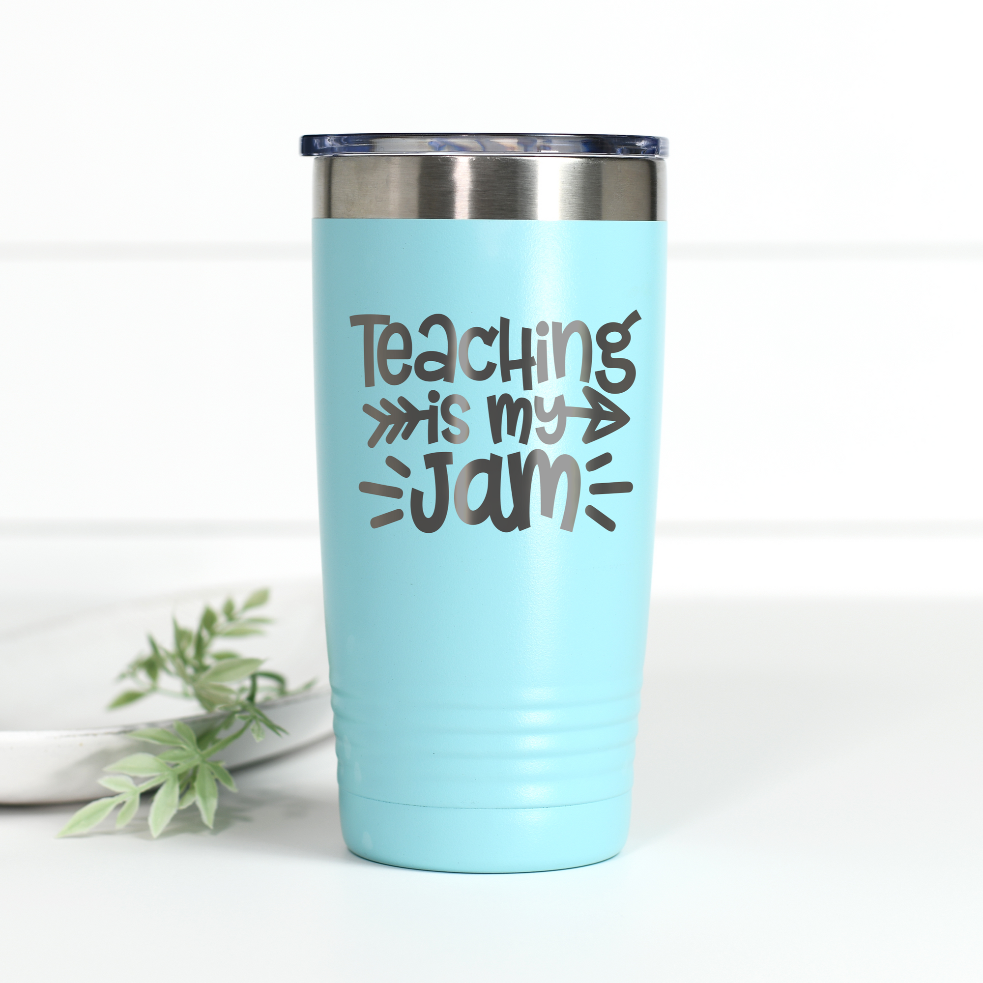 Teaching Is My Jam 20 oz Engraved Tumbler