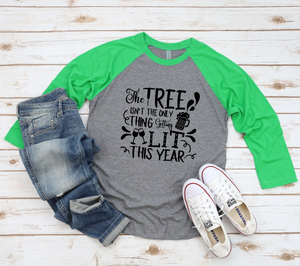 Wholesale - Tree Getting Lit Raglan Tee