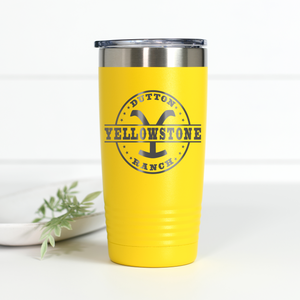 Yellowstone Dutton Ranch 20 oz Engraved Tumbler