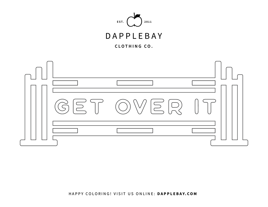 get over it coloring page