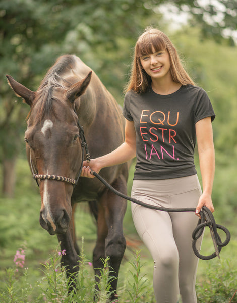 Equestrian design t-shirt