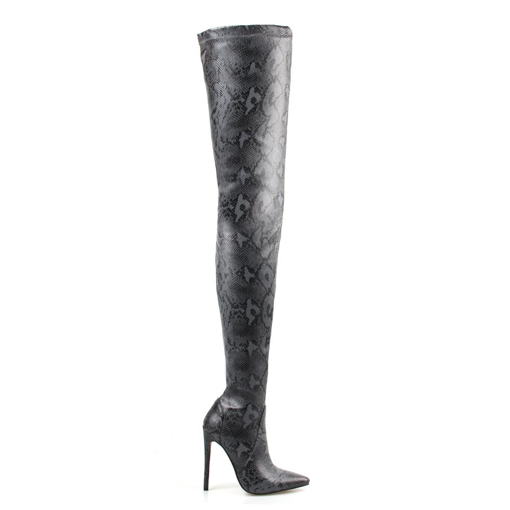 OHICHIIC NEW ARRIVAL SNAKE TOGGLE THIGH HIGH BOOTS