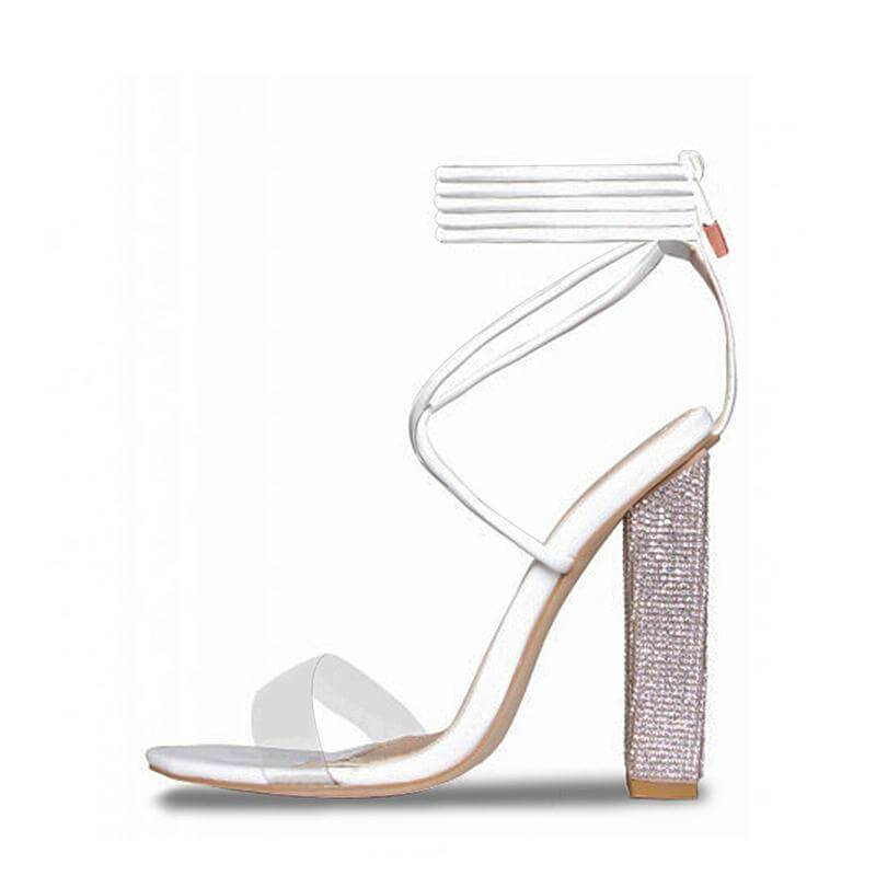 Summer Sparkling Diamond Crystal High Heels
