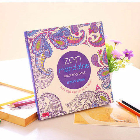 Zen Mandala Mandalas coloring book- 128 Page Version – Estus