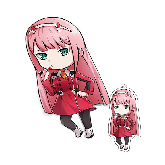 ZERO TWO CHIBI Sticker/Keychain